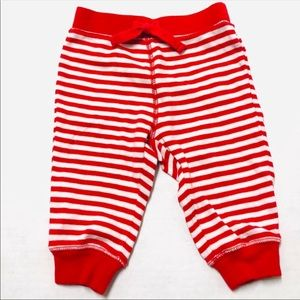 5/$25 Gymboree baby red white striped pants 3-6